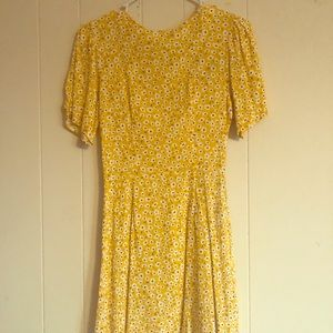 Yellow, floral summer dress